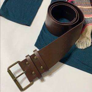 Brown XL Leather Belt
